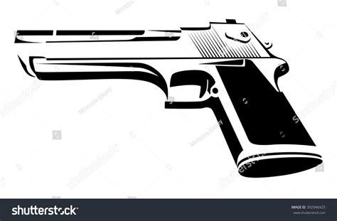 Desert Eagle Outline by Desert Eagle Black White Power Pistol Stock Vector 392946925