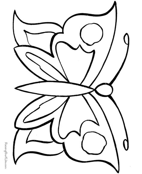 easy butterfly coloring pages button art outline