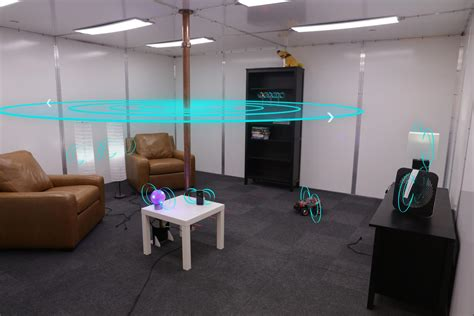 room within a room wireless power transmission safely charges devices anywhere within a room