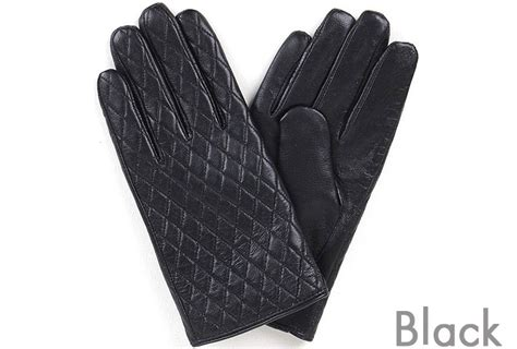 Mens Quilted Leather Gloves by New S Quilted Leather Gloves Winter Warm Smart Touch