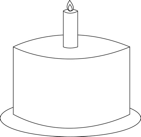 template for cake birthday cake template clipart best