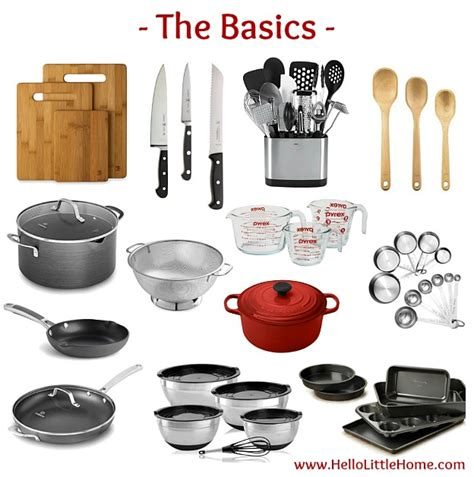 kitchen essential kitchen essentials list for home cooks hello little home