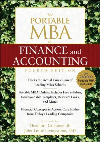 The Portable Mba In Finance And Accounting 4th Edition Pdf the portable mba in finance and accounting 4th edition