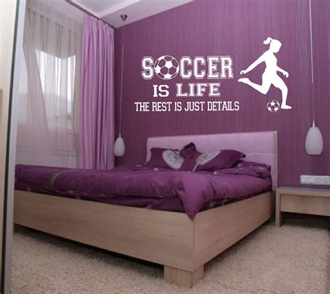 soccer bedrooms for girls soccer is life wall decal girl player soccer wall decor