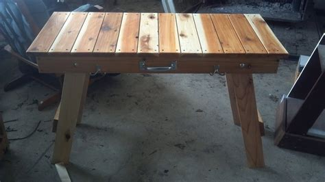 Wood Folding Table Plans Woodworking Folding Table Plans Woodproject