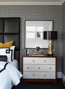 contemporary yellow black bedroom design white black