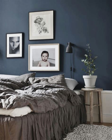 bedroom with blue walls dark blue bedroom wall home sweet home pinterest