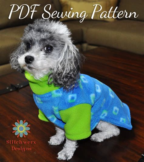 Patterns For Dog Fleece Sweaters | dog clothes pattern small dog fleece sweater sewing pattern