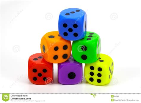 colored dice stack dice stock image image 84341