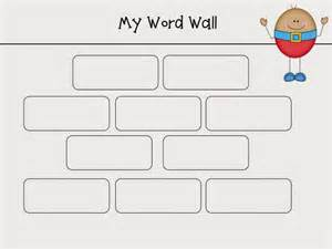 Word Wall Template by And Wishes Humpty Dumpty Word Walls