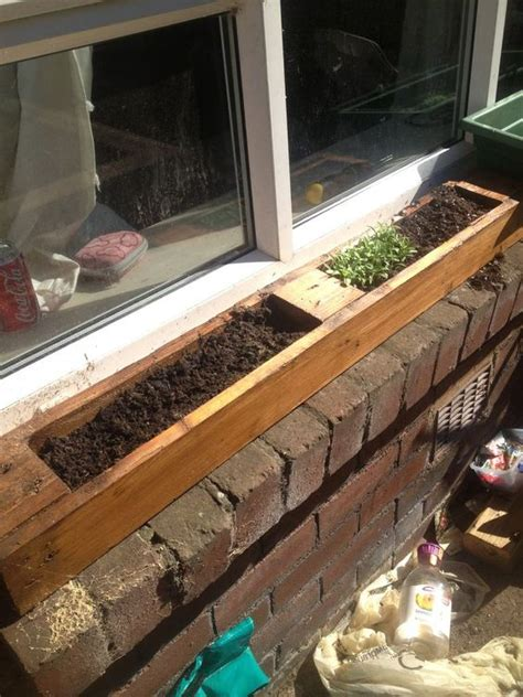 Window Sill Garden Ideas Window Planter Made From Pallet Window Sill Herb