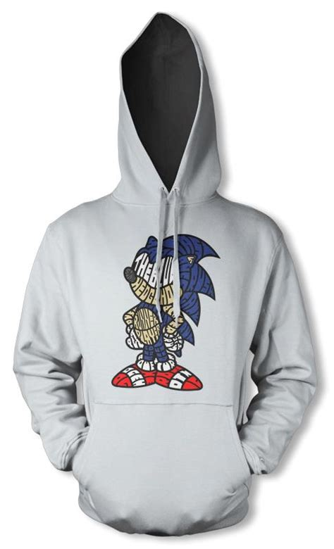 Hoodie Eggman Sonic bnwt sonic the hedgehog sega gaming character hoodie hoody s ebay