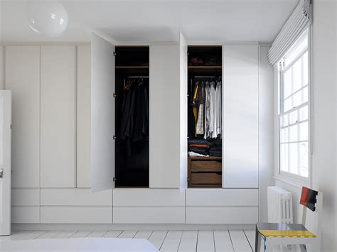full height simple white wardrobes drawers