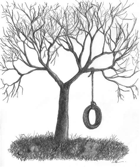 tree swing gallery for gt tree swing drawing cliparts co