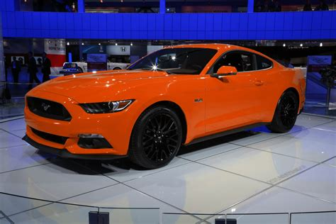 orange cars 2016 2015 ford mustang colored cars