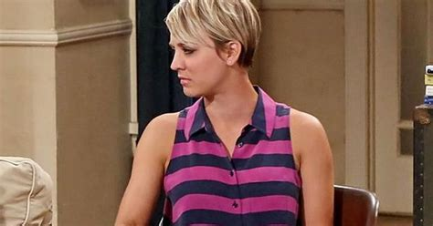penny with short hair big bang theory star kaley cuoco explains why she