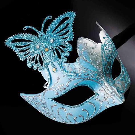 Masquerade In Blue butterfly mardi gras venetian masquerade mask for