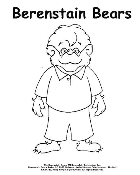 berenstain bear coloring page berenstain bears coloring pages sketch coloring page