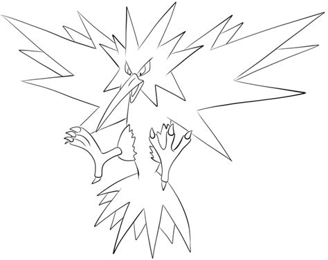 pokemon coloring pages zapdos gallery zapdos coloring pages