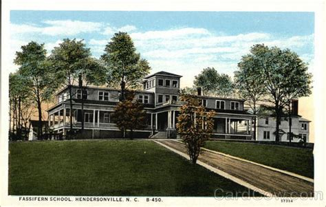 Hendersonville Nc Post Office by Fassifern School Hendersonville Nc Postcard