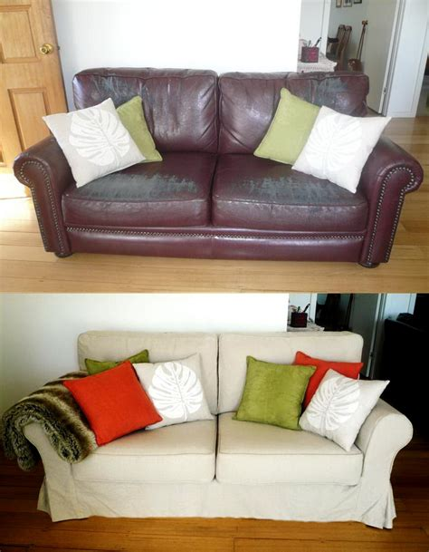 Custom Slipcovers And Couch Cover For Any Sofa Online Slipcover Leather Sofa