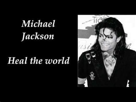 michael jackson make the world a better place lyrics michael jackson heal the world make it a better place