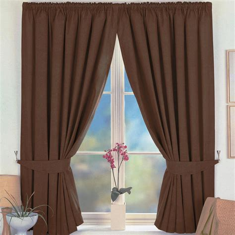 curtain pictures virgo blackout curtains brown 6 sizes