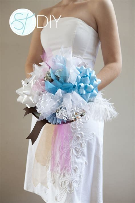 how to make a bridal shower bow bouquet easy steps the