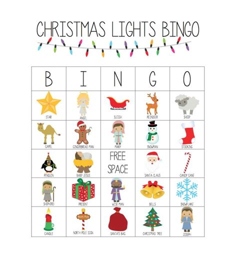 printable christmas lights bingo game i can teach my child
