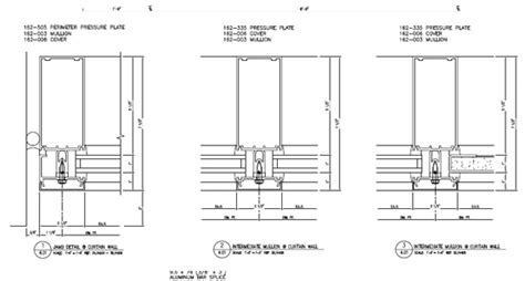 kawneer curtain wall details kawneer curtain wall cad details 28 images aluminum