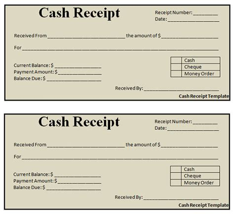 cash receipt templates selimtd