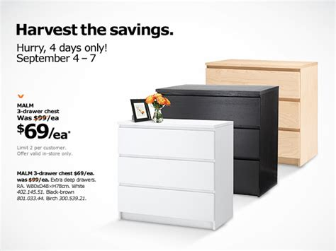 malm 3 drawer chest canada ikea canada deals malm 3 drawer chest only 69 each in