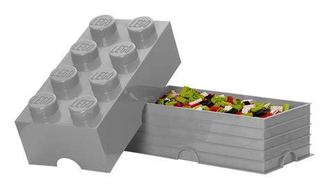 Lego Storage Brick 8 Blue Dc001029 lego 174 brick box grey by room copenhagen
