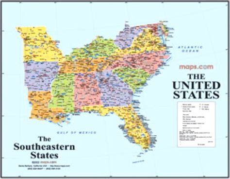 interactive map of southeast usa world maps