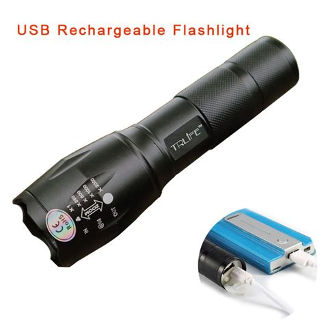 Senter Led Lantera Usb Rechargeable Cree Xml T6 2300 Lumens Usb E17 8000lm 3 Mode Cree Xml T6 L2 Led Flashlight Waterproof Lighting Zoomable Focus Torch W