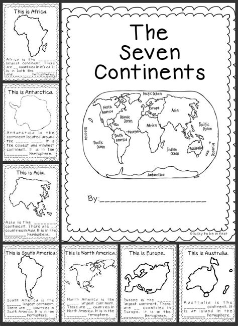 continent report template printable 7 continents coloring pages