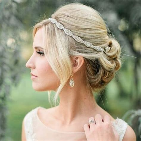 Wedding Hairstyles Updo With Headband by 50 Luxurious Wedding Updos Hair Motive Hair Motive