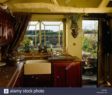 fashioned kitchen sink fashioned belfast sink beneath window in country style