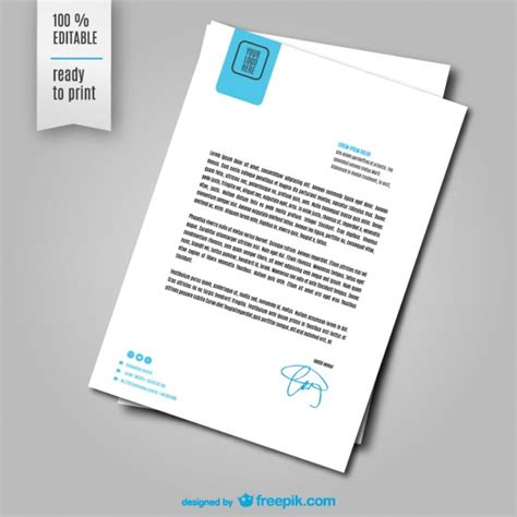 Design Document Vorlage Briefbogen Vektor Vorlage Der Kostenlosen Vektor