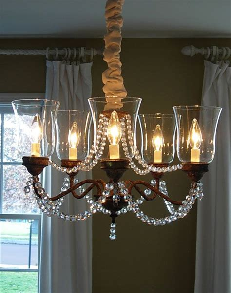 Cheap Diy Chandelier Tutorial Turn A Fugly Cheap Faux Brass Chandelier Into A Girly Shabby Chic One With Some