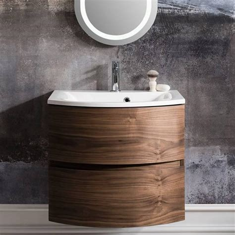 bathroom furniture walnut bauhaus svelte american walnut 60 vanity unit basin
