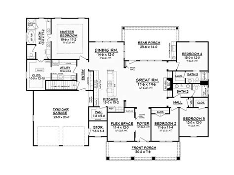 floor plans for country homes terrific one storey country ranch home hq plans metal