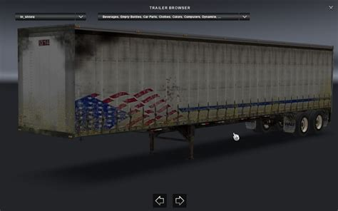 curtains for trailers curtain for trailer ats mod american truck simulator mod