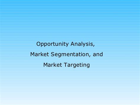 Opportunity For Mba In Marketing by Opportunity Analysis Ppt Mba Bec Doms