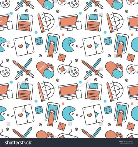 design pattern game vector modern seamless pattern texture background stock