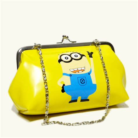 bag minions tote bag despicable me minion clutch purse handbag cosmetics bag
