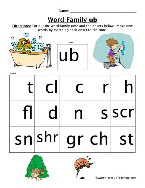Word Family Worksheets by Word Family Printables Teaching