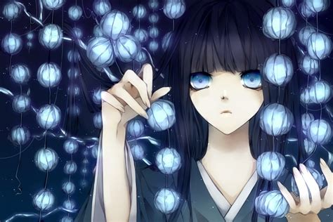 anime girl with black hair and blue eyes download blue original wallpaper 1200x800 wallpoper 357827