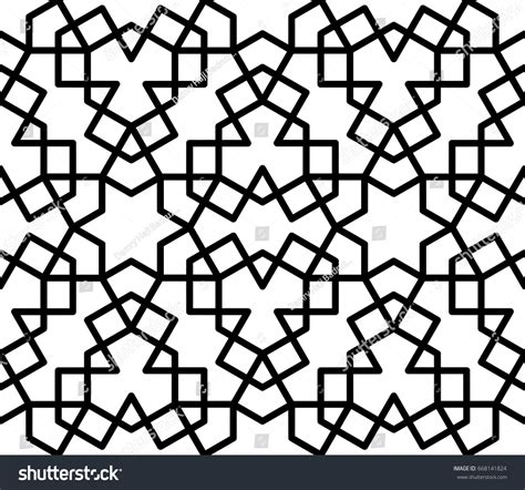 simple islamic pattern vector seamless simple islamic pattern vector background stock