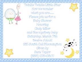 nursery rhymes blue boy baby shower invitations